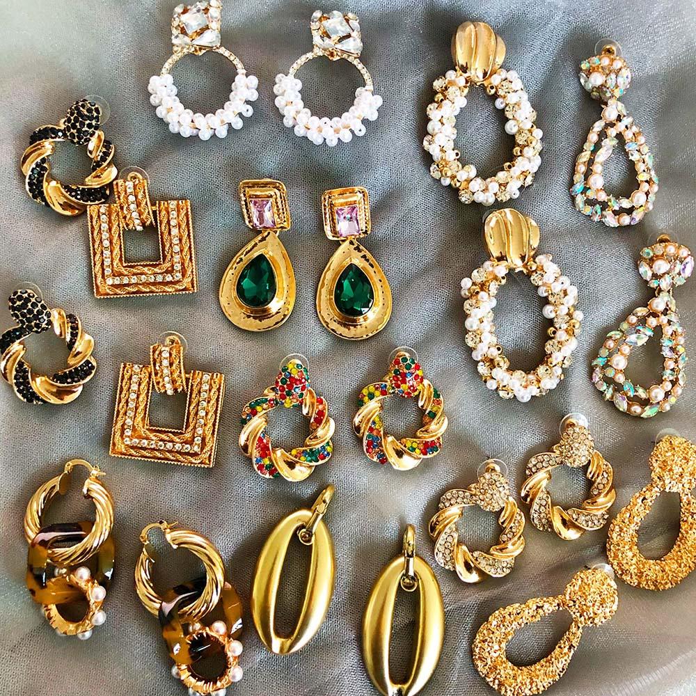 JUJIA za Jewelry Charm Drop Dangle Earrings For Women Bohemian Wedding Party Jewelry Vintage Christmas Gifts