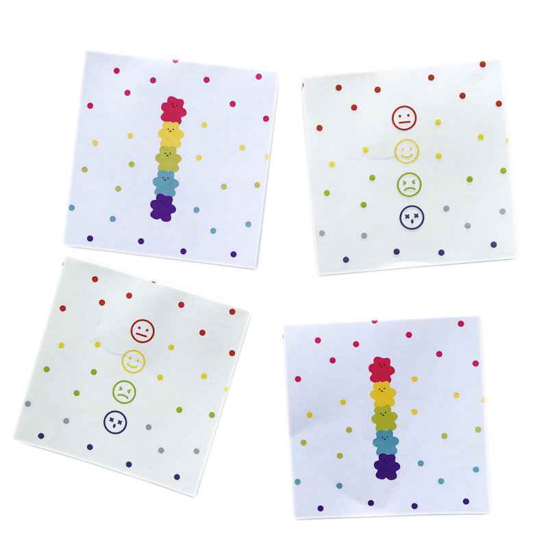 50 Pages/Pack Cute Face Bear Jelly Drops Memo Pad Sticky Notes School Office Supply Student Stationery