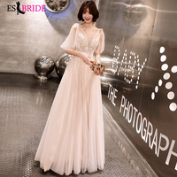ES2721 New elegant V Neck dresses prom long 2019 prom dress women evening princess evening dress prom party vestidos de fiesta