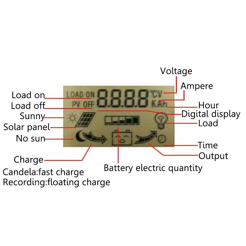 10A 20A 30A 40A 50A Solar Controlador