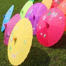 40 or 54cm hand-painted craft umbrella Chinese traditional handmade big cloth paper umbrella Dance performance prop umbrella декоративный зонтик paper umbrella