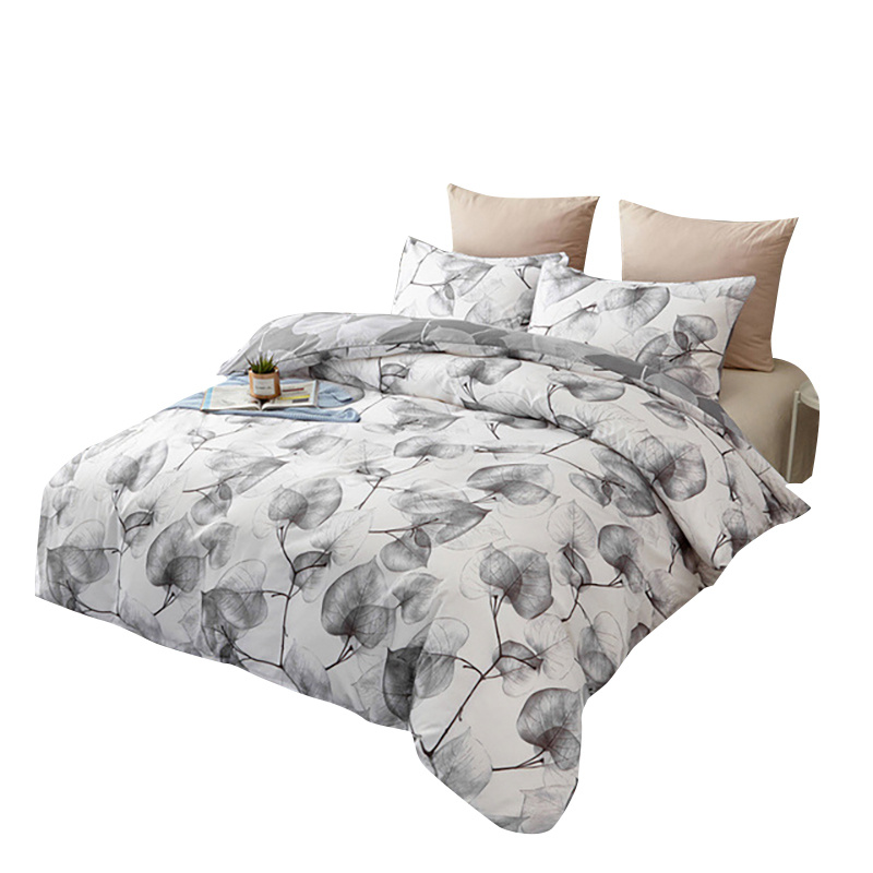 2/3pcs Home Bedding Set Plant Flower Bed Sheet Linen Bedclothes Sets Linens Include Pillowcases Cover Comfortable Bedclothes