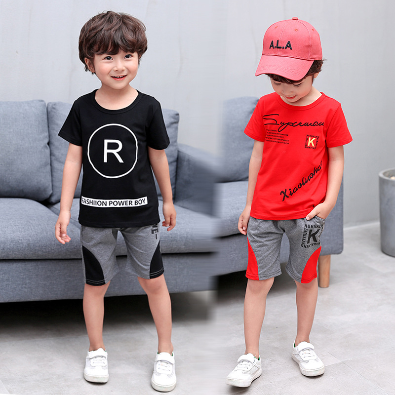 Summer Children Bourette Pajamas Suit Boy Kids Summer Faux Silk BOY'S Girls Baby Thin Air Conditioning Clothes
