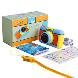 Image 5 - Mini aparat dziecięcy Mini 2.4 Cal Ful ekran HD podwójny obiektyw cyfrowy aparat zabawka wakacje zdjęcie wideo prezent na boże narodzenie aparat zabawka