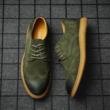 Brogue Mens Casual leather Shoes Spring Autumn Oxfords Italian Sneakers Men New Flats Zapatos Hombre Vestir 3#15/20D50