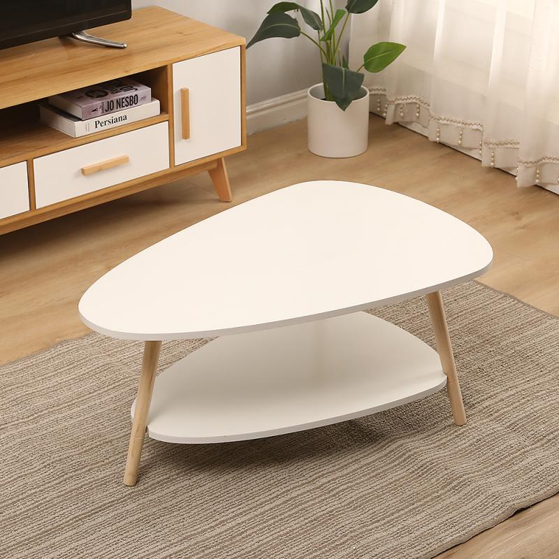 Wooden Two-layer Coffee Tables Bedroom Coffee Tables Simple Modern Living Room Corner Table Creative Balcony Side Table HWC
