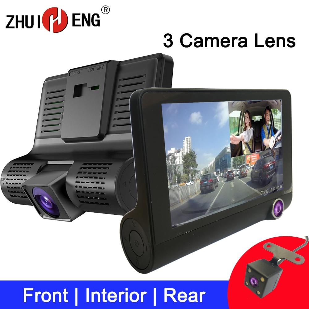 ZHUIHENG Auto DVR 3 Kamera Objektiv dash cam auto kamera dashcam auto Video Recorder auto dvr mit reverse kamera hinten view kamera