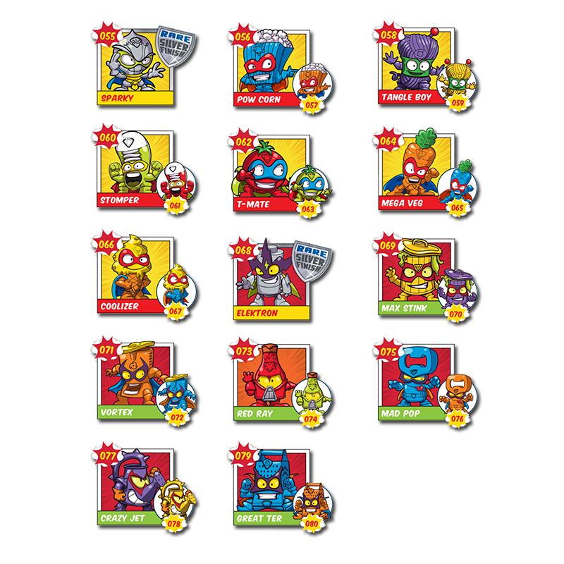 44 Pcs/set Superzings Stickers No Repeat All Characters Super Zings Series 2 3 4 Birthday Party Decoration Kids Christmas Gift