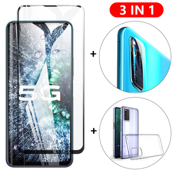 Перейти на Алиэкспресс и купить 3-в-1 стекло + чехол для vivo iQOO Z1 Neo 3 5G защита для экрана закаленное стекло vivo iQOO Pro 3 5G Neo 855 Защитное стекло для камеры
