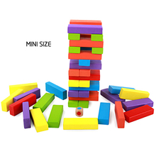 54PCS Wooden mini Colorful Blocks Building Jenga Pulling Children Educational Toys children toys