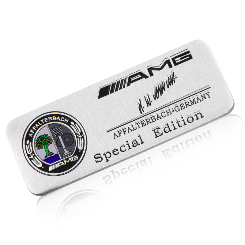 1pcs Metal Car Body Trunk Sticker Car Decoration Labeling For Mercedes Benz AMG GLC GLE E CLA GLA W205 W211 W213 Car Accessories