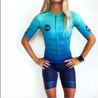 Trespinas Frauen Sommer kurzarm Radfahren Jersey set MTB Bike Straße Sport Kleidung ropa ciclismo Bib shorts set maillot ciclismo-in Fahrrad-Sets aus Sport und Unterhaltung bei