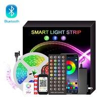 LED light strip 5050 Bluetooth DIY light strip set Bluetooth control RGB light strip Flexible Tape Led Ribbon 5M 10M 15M 20M Set