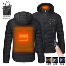 Heating-Jackets Heated-Clothing Smart-Thermostat Warm Waterproof Winter Men Hooded NWE