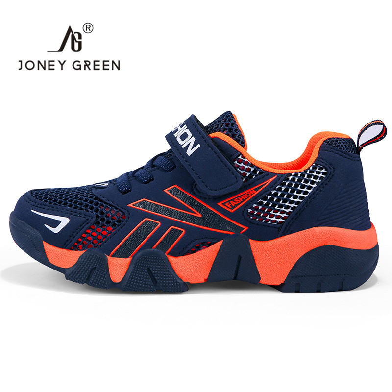 J&G New Children Boys Shoes School Sport Trainers Mesh Breathable Teenagers Flat Running Child Spft Shoes Comfortable Shoes Kids