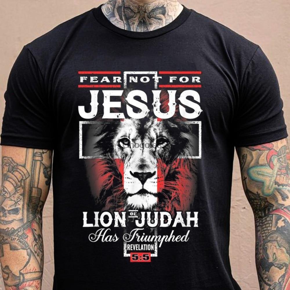 Angst Niet Voor Jezus De Leeuw Van Juda Heeft Triumphed Cross Shirt