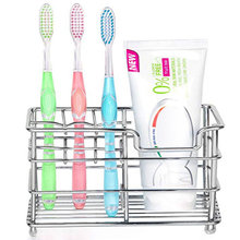 Stainless Steel Wall Mounted Polishing Toothbrush Holder Bathroom Storage Organizer Ware Shelf Toothpaste Stand Home Decoration(China)