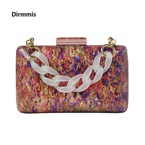 Image 1 - New Trendy Acrylic Bag Brand Fashion Women Handbag Red Geometric Luxury Wedding Party Evening Bag Woman Casual Box Clutch Purse