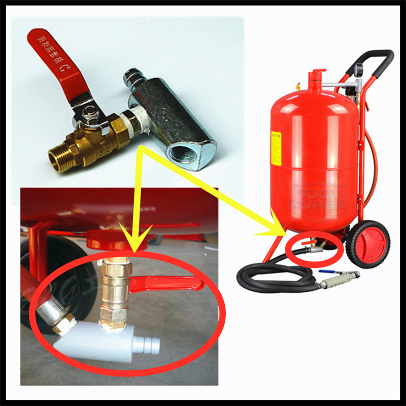 Three-way Part With Adjusting Valve For Mobile Gallon Blaster Sandblasting Cabinet