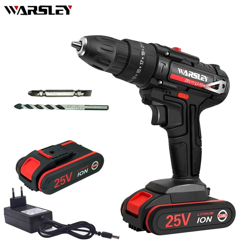 25v 1.5Ah Battery Capacity Drill Mini Cordless Drill Power Tools Electric Screwdriver Electric Drill Batteries Screwdriver