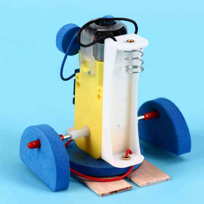 Saizhi DIY elektrikli yürüyüş robotu modeli kitleri çocuklar öğretim öğrencileri çocuk buhar bilimsel deney oyuncaklar eğitici oyuncak
