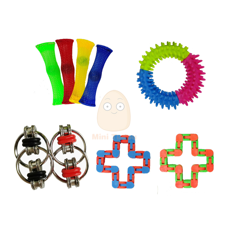 Fidget Toy Funny Anti Stress Sensory Autism Anxiety Relief Plastic Cute Strings Mesh Antistress Kit Toys For Adult Childrens img4