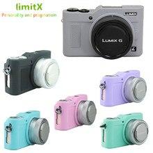 Protecteur de corps de boîtier dappareil photo de peau darmure de Silicone pour Panasonic Lumix GF9 GF10 GF90 GX800 GX850 GX900 GX950 appareil photo