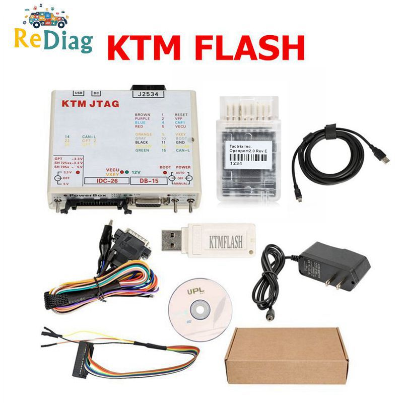 Newest V1.95 KTM Flash OPENPORT J2534 Cable Support 271 MSV80 90 KTMFLASH ECU Power Upgrade Tool Programmer&ECU Transmission