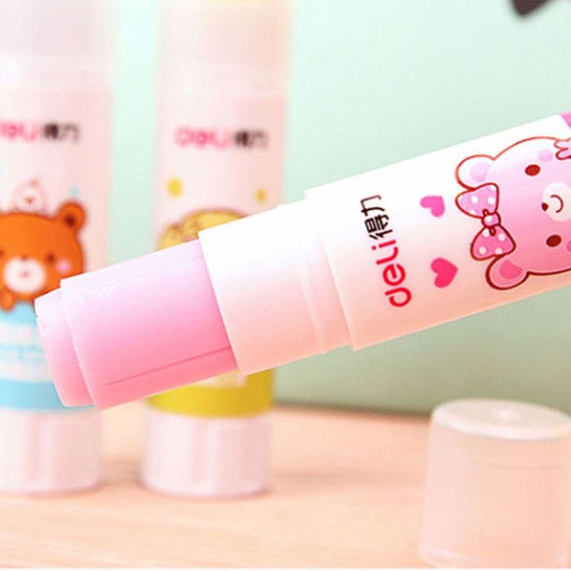Cartoon Bear Solid Glue Cute Kawai School Glue Stick For Kids Decoration Scrapbooking Photo Album Stationery Office Supplies
