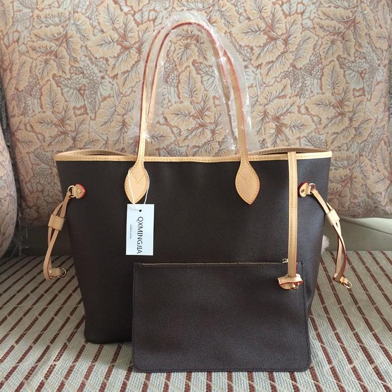Neverful Bag Women Luxury Brand Shopping Bag Top Quality Designer Never Shoulder Bag Canvas Leather Full Handbags MM