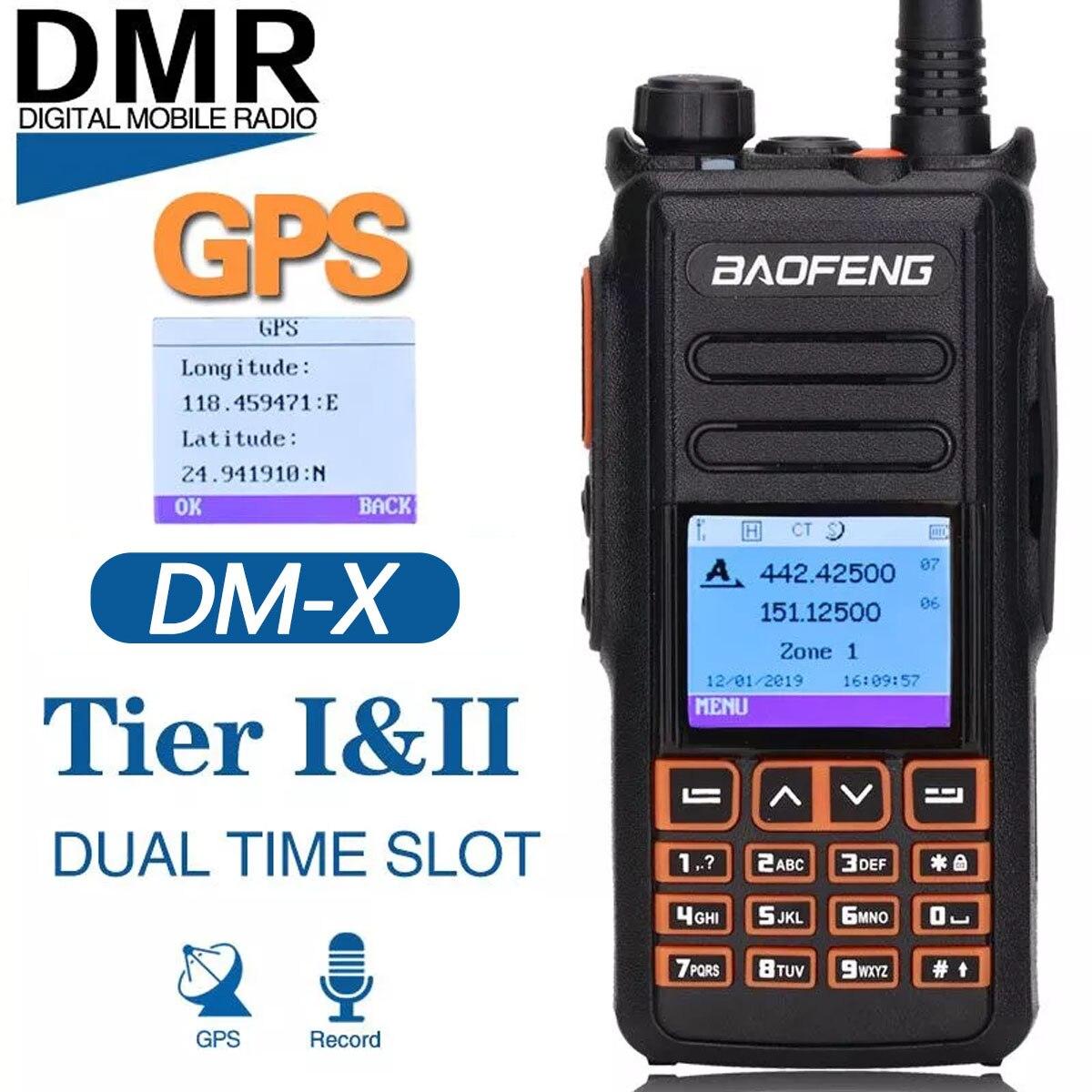 """2021 Baofeng DM-X GPS иди и болтай Walkie Talkie """"иди и Dual Time Slot DMR цифровой/аналоговый DMR повторитель обновление DM-1801 DM-1701 DM-1702 радио"""
