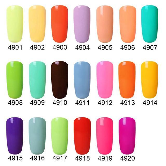 Elite99 10ml Matte Top Mantel Gel Lack Semi Permanent Macaron Farbe Nägel Gellak Tränken Weg Nail art Gel Farbe UV Gel Nagellack