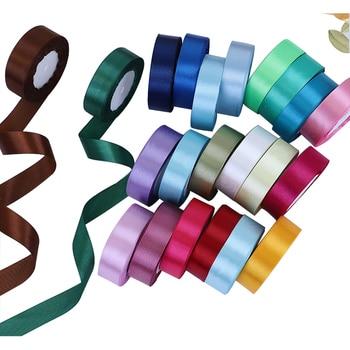 Cinta de satén de seda en 7 tamaños, 35 colores, decoración para fiesta de boda, embalaje de regalo, DIY Riband bowknot logo personalizado