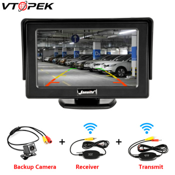цена на Vtopek Car Monitor 4.3 Inch Screen for Rear View Reverse Camera TFT LCD HD Display Digital Color PAL/NTSC 480 X 272 for SUV RV