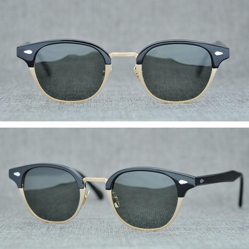 Ацетатные винтажные Поляризованные солнцезащитные очки для мужчин и женщин, брендовые Ретро Круглые Солнцезащитные очки для мужчин, очки