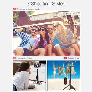 Image 3 - Blitzwolf BW BS10 pro tripé retrátil, atualização de bluetooth, controle remoto de selfie, portátil, tripé para iphone huawei huawei