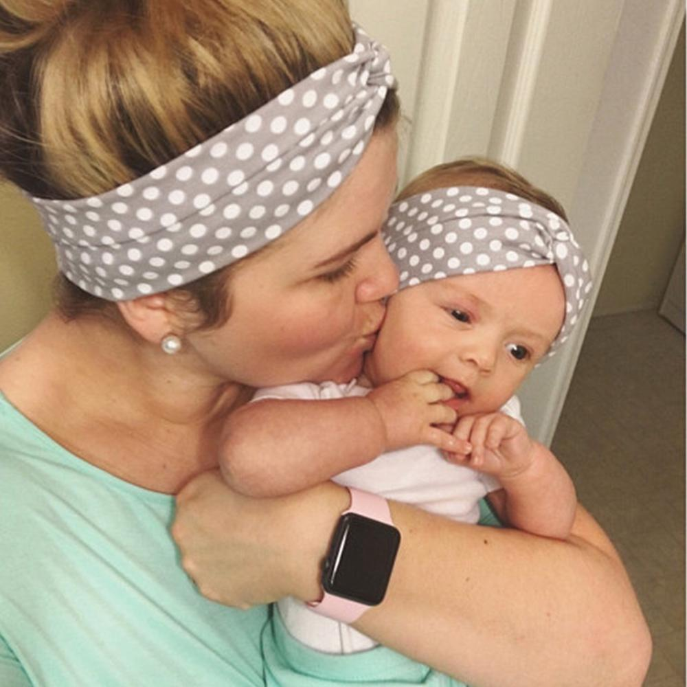 Dot Cross Baby Headbands For Girls Handmade Elastic Cotton Solid Soft Baby Headband Hairband Newborn Infant Hair Accessories New