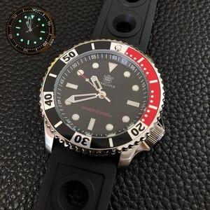 Relógio de pulso de quartzo 200m à prova dwaterproof água suíça relógio luminoso relógios de mergulho do esporte dos homens steeldive superior de luxo da marca