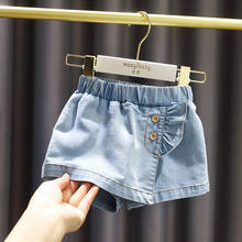 Children Elastic Waist Denim Pants for Baby Girls Fashion Hot Short Pants for Cute Sweet Kids Girls Princess Shorts Jeans(China)