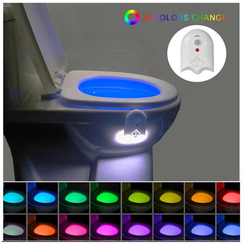 Led Toilet Toilet Light Usb Rocket Toilet 16 Color Night Version Light Infrared Sensor Automatically Lit With Aromatherapy Table