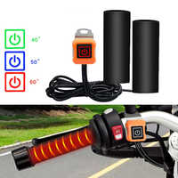 12V Intelligent Temperature Control Third Gear Heated Grips Inserts Handlebar Hand Warmer For Universal Grip ATV Motorcycle Bike