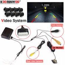 Koorinwoo – accessoires de voiture Parktronics, capteur de stationnement, système 8 avant, sonnette, Assistance pour caméra de voiture et moniteur Radio AV