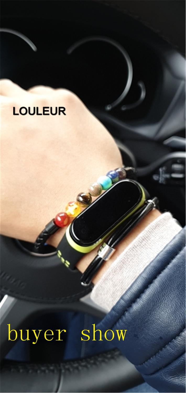 LOULEUR Mens Genuine Constellation Leather Bracelet for Women Men Bracelet Aquarius/Virgo/Scorpio/Libra 12 Zodiac Signs Bracelet