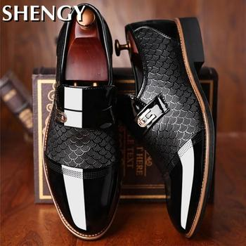 Genuiner Leather Embossing Classic Business Shoes 1