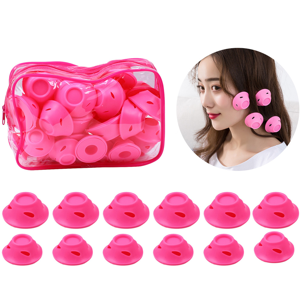 40pcs Silicone Hair Curlers Hair Curler Roller No Damage Hair Curler Sleep Hair Style Tools With Clear Bag No Heat Hair Curlers