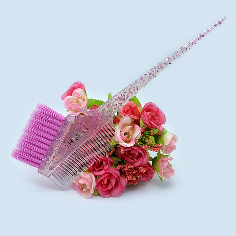Galaxy Glitter Hair Color Brushes Rounded Hair Color Brush  Hair Dye Brush And Comb For Hair Dye And Root Touch Up