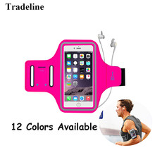 Waterproof Sports Phone Armband For Size 6'' inch Running For iPhone Xs Max XR X Armband Case Holder Universal Mobile Brassard(China)
