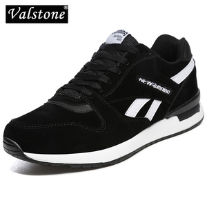 Valstone Men's leather sneakers Unisex Mesh air casual Trainers Breathable outdoor walking shoes light weight antiskid stylish