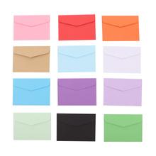 120 sztuk Mini koperty małe powitanie wiadomość list pojemnik na akcesoria do pisania papieru prezent (losowy kolor) tanie tanio CN (pochodzenie) mini envelope small envelope set envelopes for cards colorful envelopes small greeting message letter storage paper