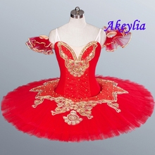 Red Pancake tutus Yellow Girls Classical Ballet tutu performance Costumes Professional Patter Tutu kids